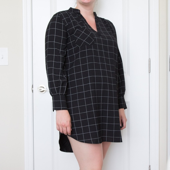 She and Sky Dresses & Skirts - NWOT Black Windowpane Tunic Dress